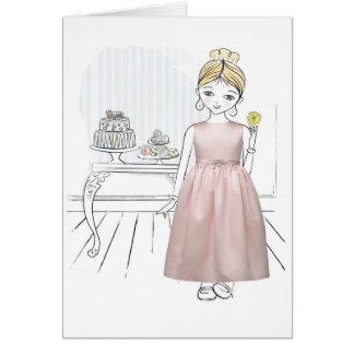 Carte Demoiselle de honneur de Merci
