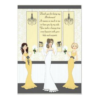 Carte Demoiselle d'honneur de Merci