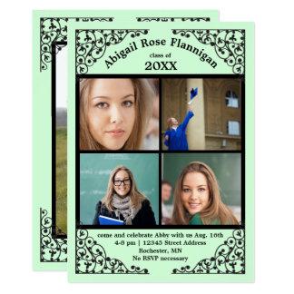 Carte Dentelle de menthe de collage de photo -