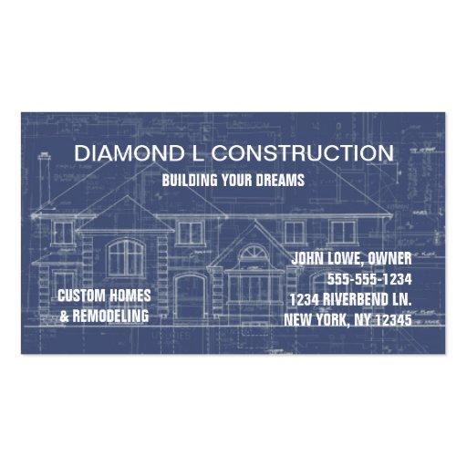 Carte d 39 entreprise de construction carte de visite for Carte visite construction