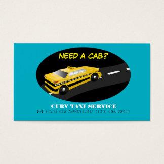 Carte d'entreprise de services de taxi