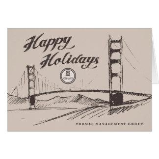 Carte d'entreprise de vacances de San Francisco