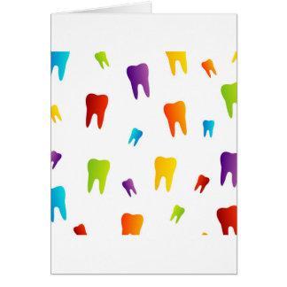 Carte Dents colorées