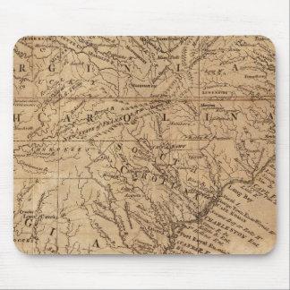 Carte des états de Virginie et de la Caroline du N Tapis De Souris