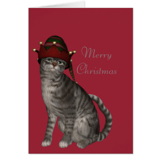 Carte Des Merry Christmas, parler with cat