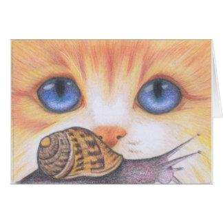 Carte d'escargot et de chat