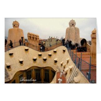 Carte dessus de toit Barcelone de Pedrera de La de g/nc