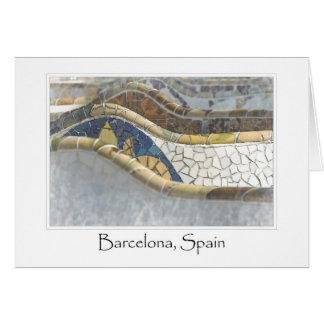 Carte Destination de touriste de Barcelone Espagne Parc
