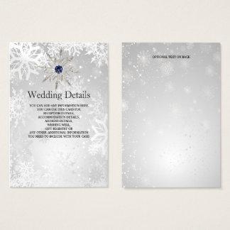 Cartes De Visite carte détail argentée de mariage d'hiver de