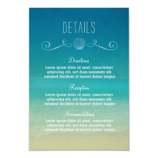 Carte détail tropicale de mariage de plage