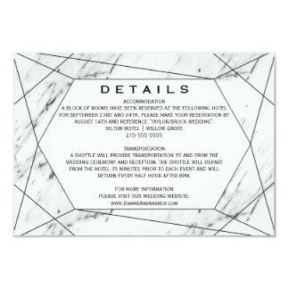 Carte Détails de marbre géométriques blancs et noirs de