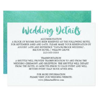 Carte Détails de mariage de destination de calligraphie