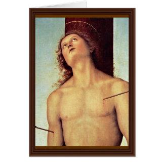 Carte Détails de St SebastiAn par Perugino Pietro