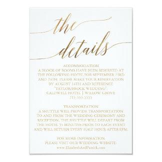 Carte Détails élégants de mariage de calligraphie d'or