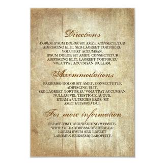 Carte Détails en bois rustiques de mariage -