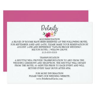 Carte Détails romantiques de mariage de bouquet de fleur