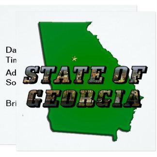 Carte d'état de Géorgie et texte d'image