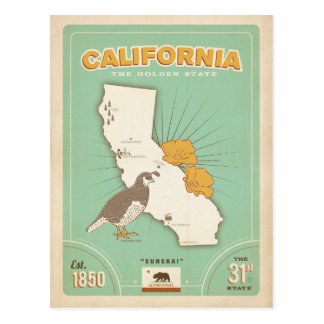 Carte | d'état de la Californie le Golden State