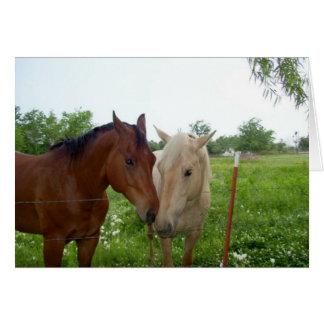Carte Deux chevaux - masquez à l'intérieur