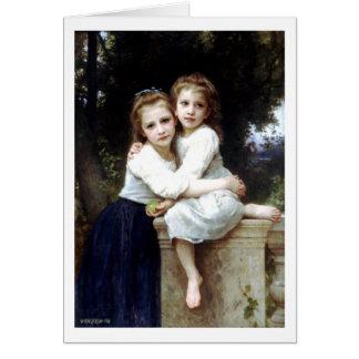 Carte Deux soeurs peignant par William-Adolphe