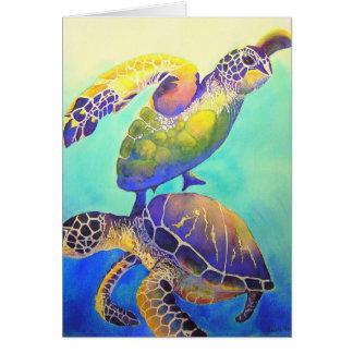 Carte Deux tortues de mer verte