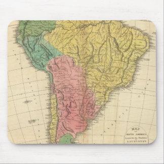 Carte d'histoire de l'Amérique du Sud Tapis De Souris