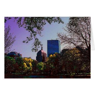 Carte d'horizon de Boston