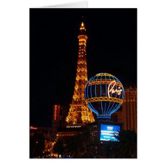 Carte d'hôtel et de casino #2 de Paris Las Vegas
