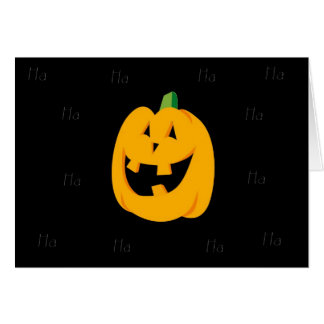 Carte d'humour de Halloween de citrouille d'ha ha
