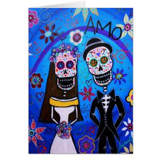 Carte Dia de los Muertos Wedding
