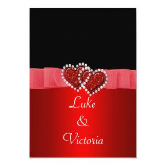 Carte Diamant rouge et noir fermant à clef épouser de