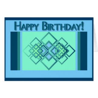 Carte Diamants bleus - joyeux anniversaire