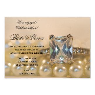 Carte Diamond de princesse Cut et partie de fiançailles