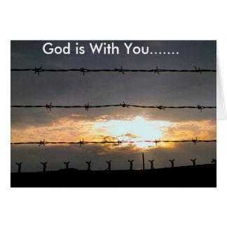 Carte Dieu est avec vous dans cette période de problème