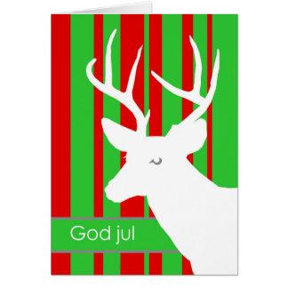 Carte Dieu juillet, Noël dans les cerfs communs suédois