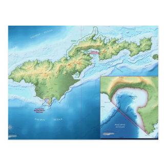 Carte d'île de Tutuila