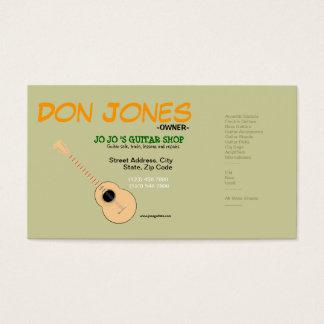 Carte d'industrie musicale de magasin de guitare