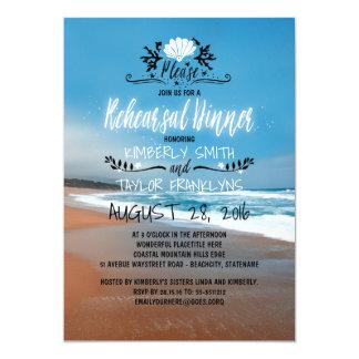 Carte Dîner de répétition de mariage de plage