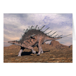 Carte Dinosaure de Kentrosaurus dans le désert - 3D