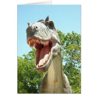 Carte Dinosaure de T-Rex de Tyrannosaurus