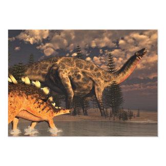 Carte Dinosaures de Dicraeosaurus et de kentrosaurus -