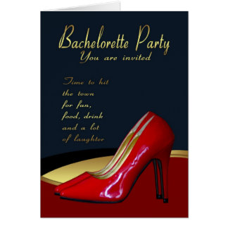 Carte d'invitation de partie de Bachelorette -