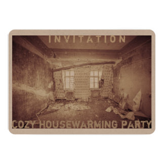 Carte d'invitation pour une maison-chauffer-partie carton d'invitation  12,7 cm x 17,78 cm