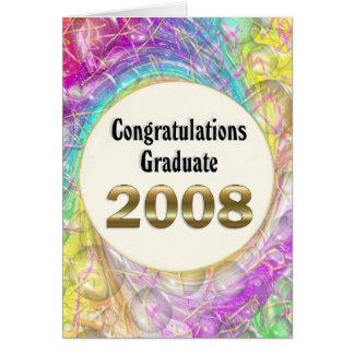 Carte Diplômé 2008 de félicitations