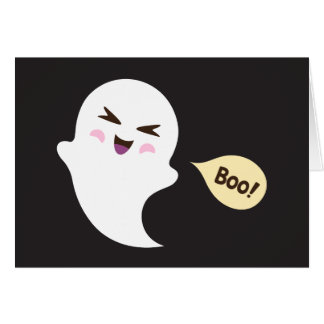 Carte Dire mignon de fantôme de bande dessinée de kawaii