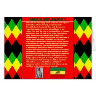 Carte Discours célèbre de guerre de Haile Selassie à