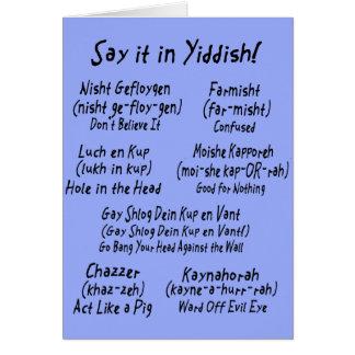 Carte Dites-le dans Yiddish