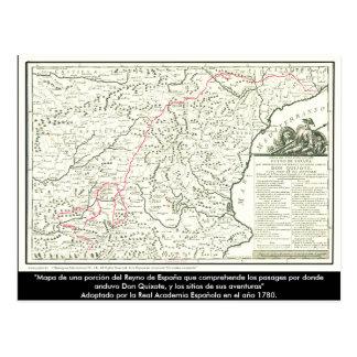 Carte d'itinéraire de Don don Quichotte -