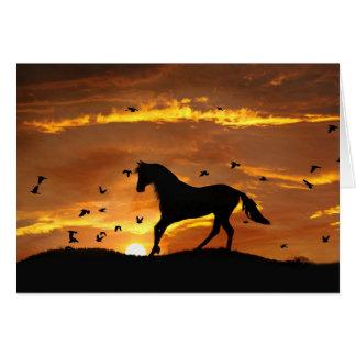 Carte divorce Encouargement de cheval