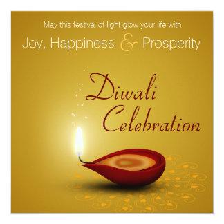 Carte Diwali heureux Diya - festival d'invitation de